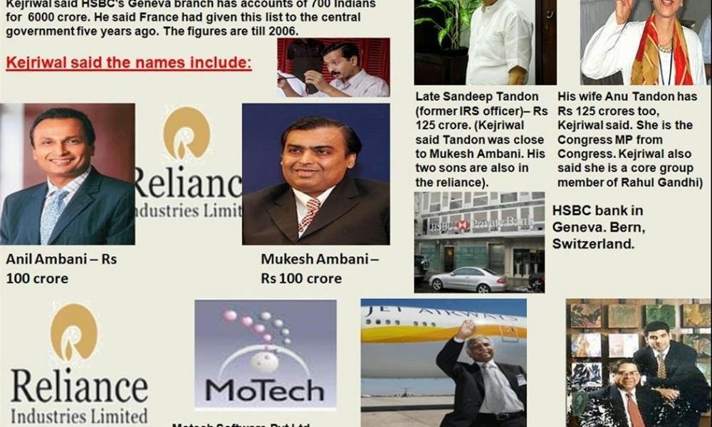 HSBC's Swiss private banking Secrets, 200 Countries, Over $100 million Accounts including Mukesh and Anil Ambani, Yashovardhan Birla, Chandru Lachhmandas Raheja and Dattaraj Salgaocar among others