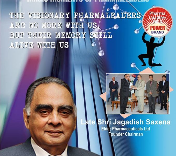 The Visionary Entrepreneur of Elder Pharma late Jagdish Saxena was a man of emotions &  a compassionate leader. Remembering the leader!