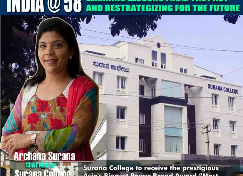 """Renowned Educationalist Archana Surana voted by the Network 7 Media Group Jury as """"India's Most Valuable Woman Educationalist & Reformist of the year 2015"""""""