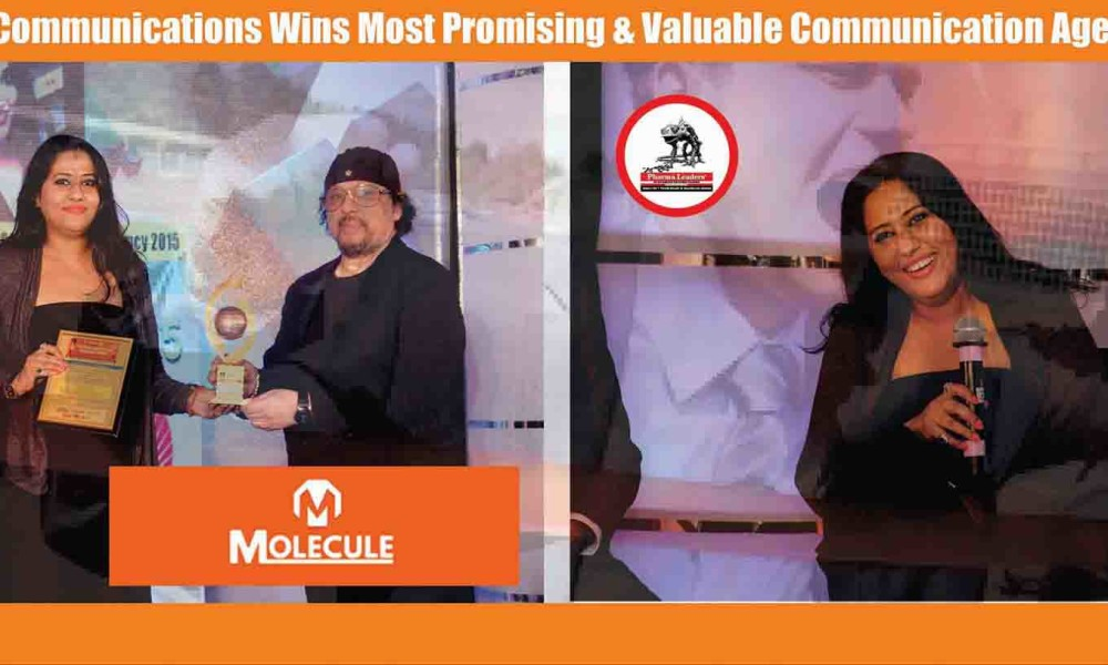 Iconic Music Composer Louiz Banks awards Molecule Communications Most Promising & Valuable Communication Agency 2015
