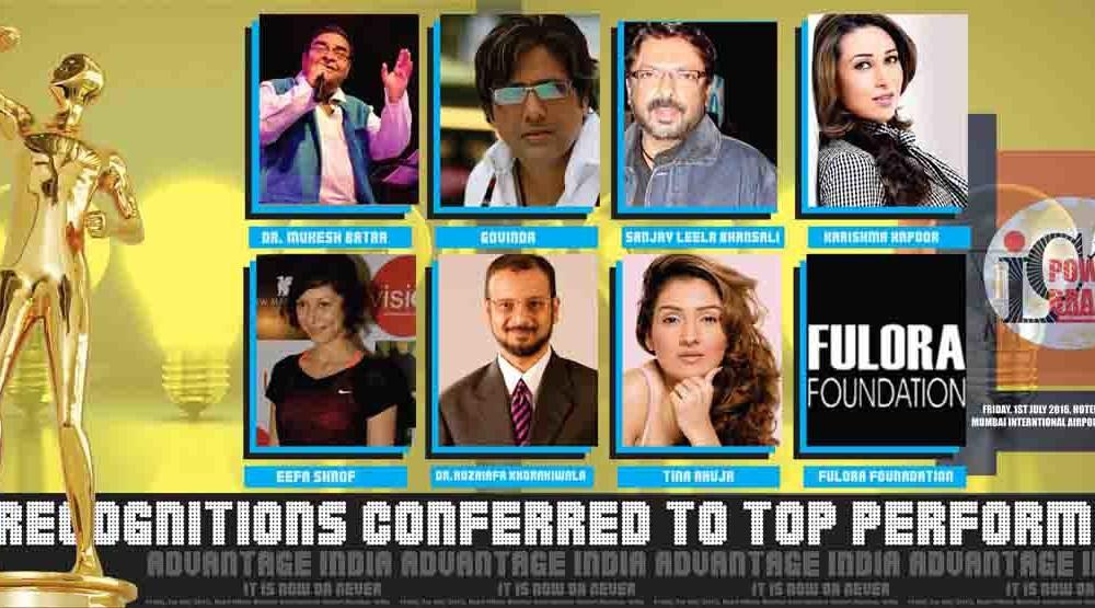 Govinda, Sanjay Leela Bhansali,Karishma Kapoor, Dr. Mukesh Batra,Dr.Huzaifa Khorakiwala,Tina Ahuja, Eefa Shrof, Fulora Foundation among others selected for ILC Power Brand Awards 2016